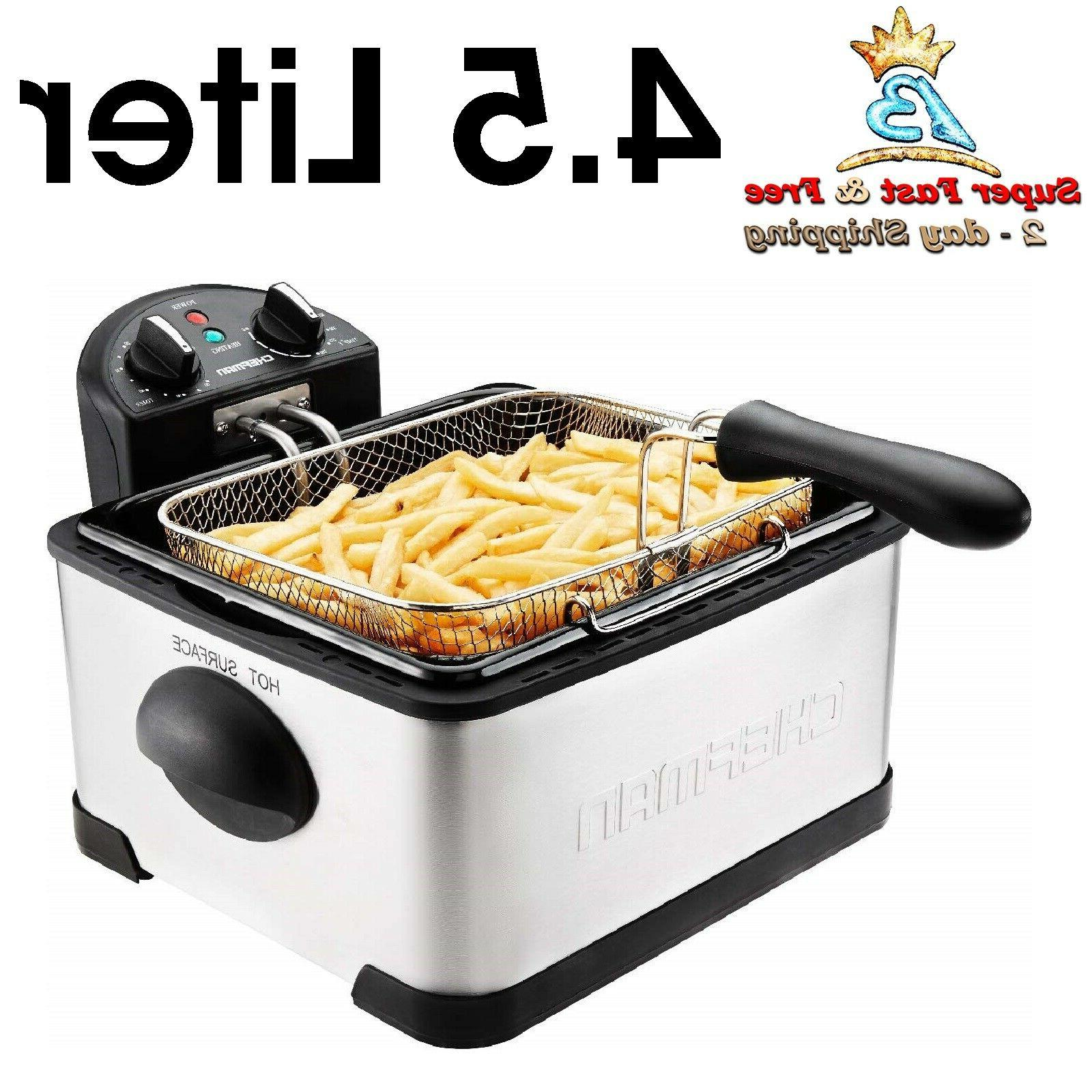 Electric Jumbo Deep Fryer Cooker With Fry Basket For French