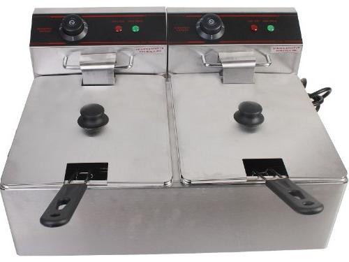 5000w Electric Fryer Dual Restaurant Steel