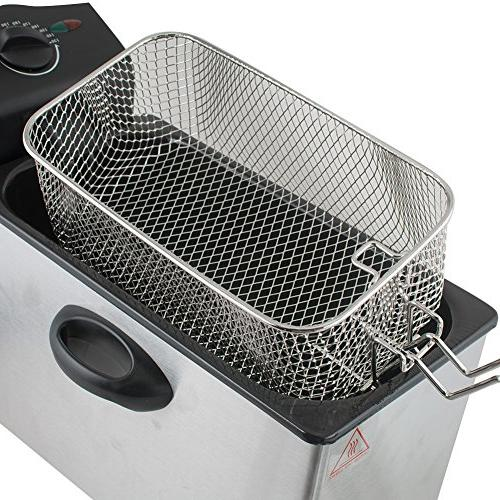 Electric Capacity Single-Tank Tabletop Immersion Frying Basket Cafe Dessert Household more