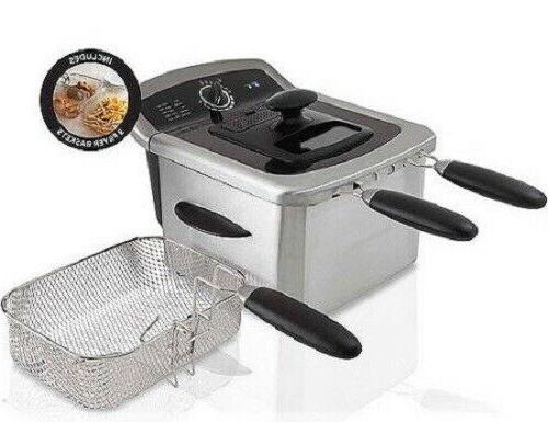 Electric Deep Fryer Cooker Home Steel
