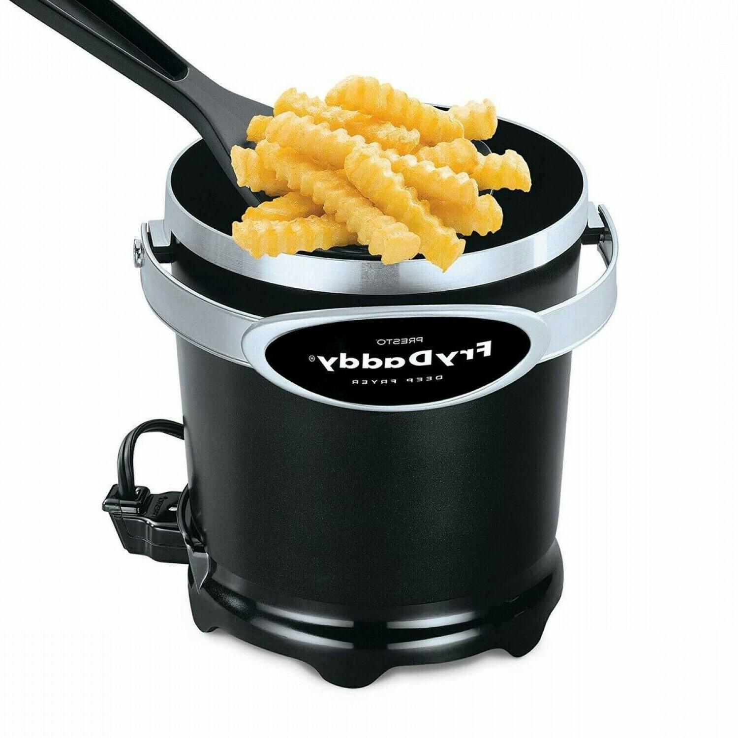 Electric Deep Fryer Electric Compact Small Mini Fry Basket 4