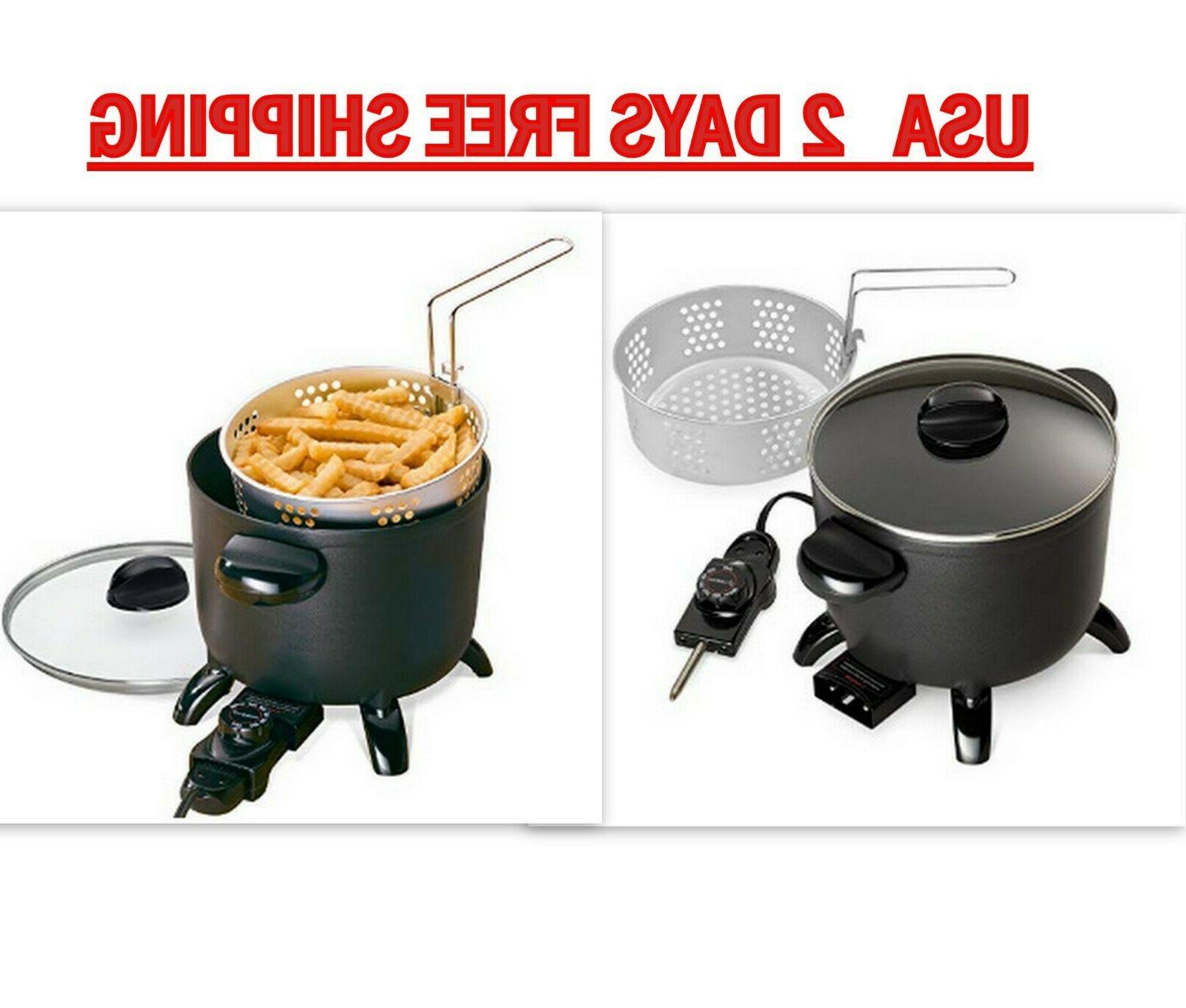electric deep fryer home restaurant kitchen multi
