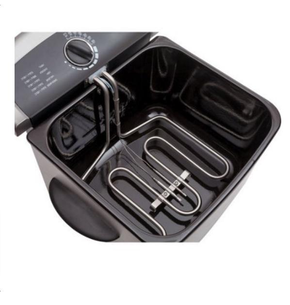 Electric Fryer Cooker Home Countertop Basket Fries Steel