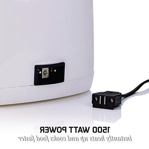 Ovente 2-Liter Fryer Basket, Adjustable Cool-Touch LED Light, and Odor