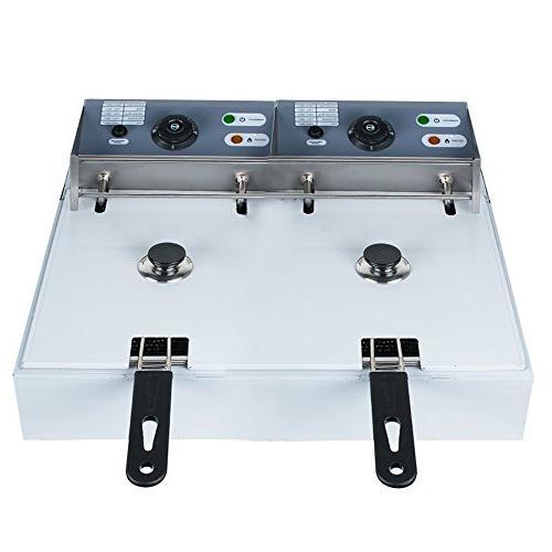 Vinmax 11L Dual Deep Fryer Tabletop Fryer fit for Home