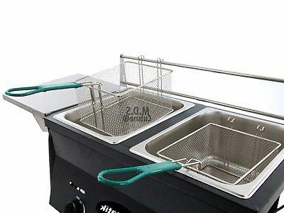 Ematik Fryer Dual Wire Steel 20 Qt Capacity Propane Gas...