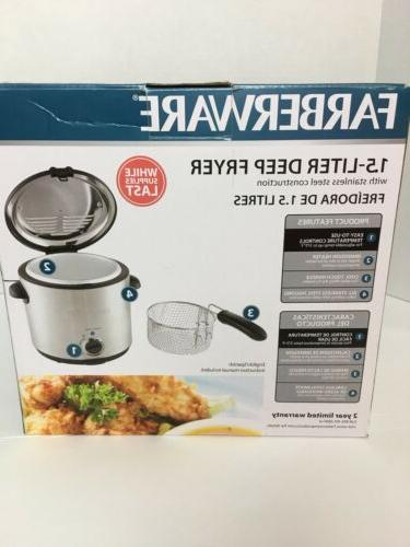 Farberware 1.5 Steel Deep Fryer Model FW-DF808