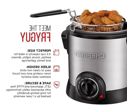 Fryer with Removable Easy-to-Clean Non-Stick