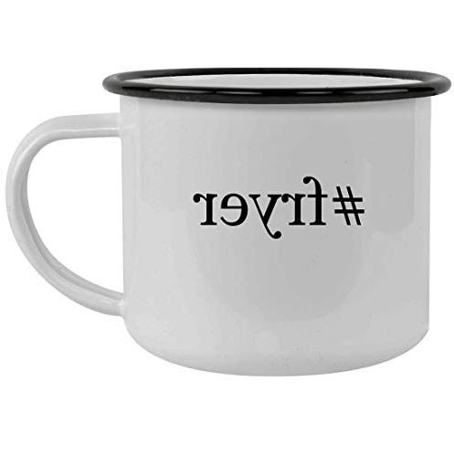 fryer 12oz hashtag stainless steel camping mug