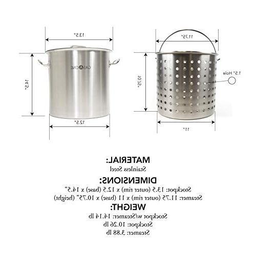 Gas 32 QT Purpose Tri All Pot Fryer Steam Basket
