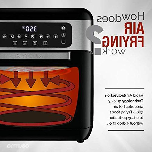 Gourmia GAF678 7-Qt Digital Free Fry Fryer & Healthy Cooking Cook Kit | Recipe Included