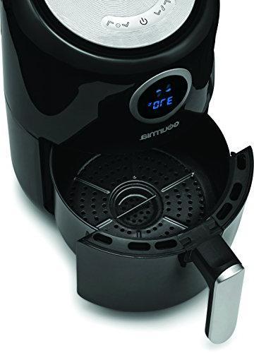 Gourmia GAF365 Hot Air No Fat Healthy Frying 2.2 Quarts - and Temperature Bonus Cookbook