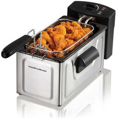 Professional-Style Electric Deep Fryer Cooker Home Counterto