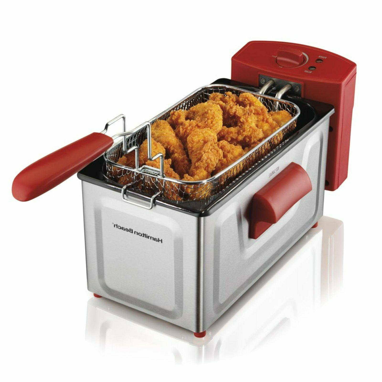 Hamilton Beach Professional Style Deep Fryer Fast Cooking Wi