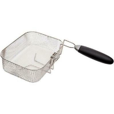 Deep Fryer Stainless Steel Cooker Basket View Window Fries
