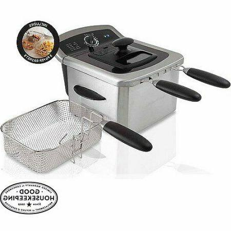 electric deep fryer stainless steel 4l oil