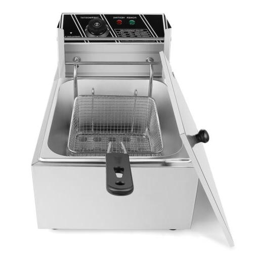 6.3QT Single Deep Fryer Countertop