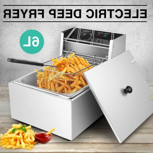 industrial electric deep fryer stainless steel single