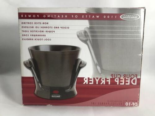 Kitchen Selective-Deep Fryer Cup Df-10 Compact With Lid NEW