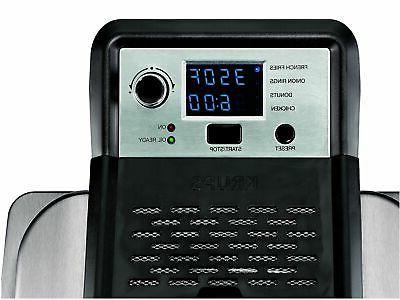 KRUPS KJ502D51 Electric Deep Fryer, Steel Basket