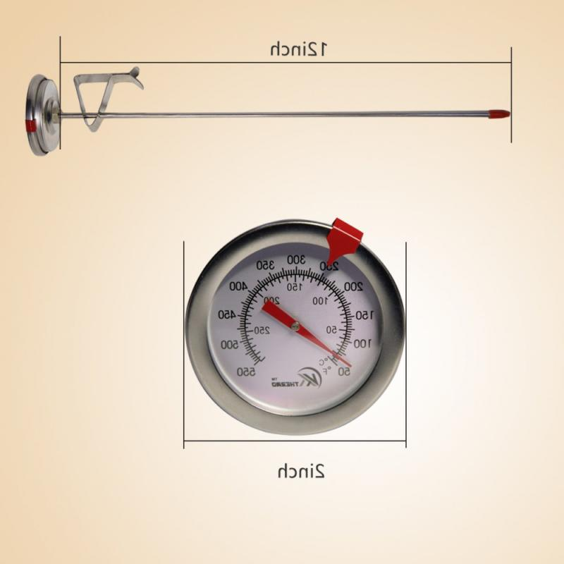"""KT Thermometer Instant Read,Dial,12"""" Stainless Stem"""