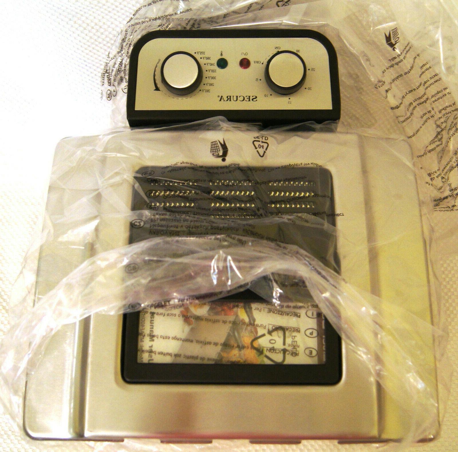 Secura Large 4.2 Qt Electric Deep Fryer Triple