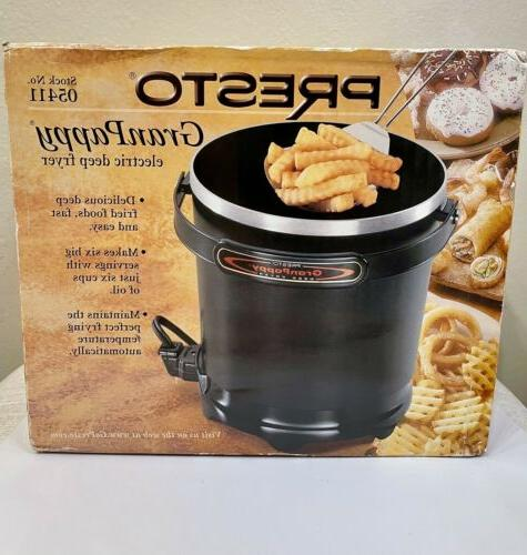 new 05411 granpappy electric deep fryer