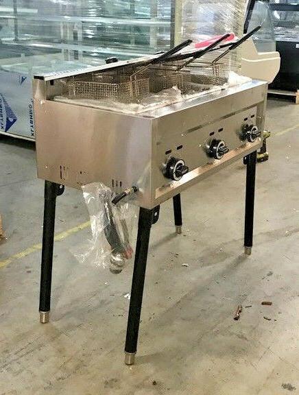NEW 3 Burner Deep Fryer Model Use