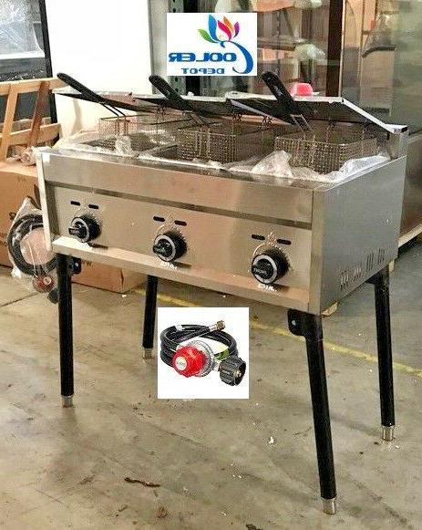 new 3 burner compartment deep fryer model