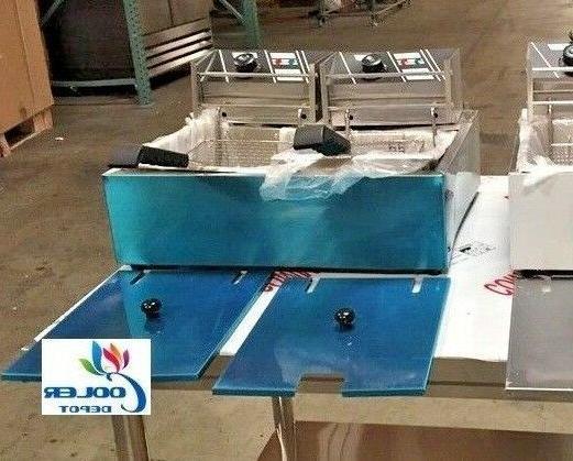 new 5 gallon electric double deep fryer