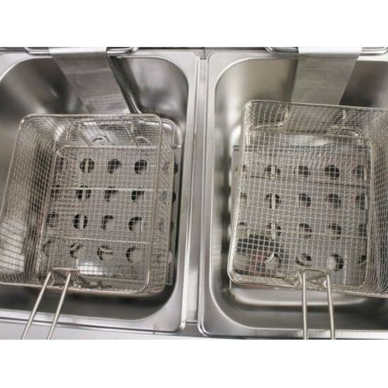 New Electric Countertop Deep Fryer Dual Commercial Steel +