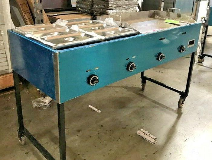 "NEW 66"" Griddle Cart Asada Burger Pollo Model Deep"