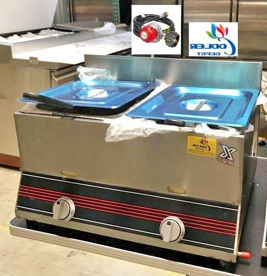 new 7 gallon commercial double deep fryer