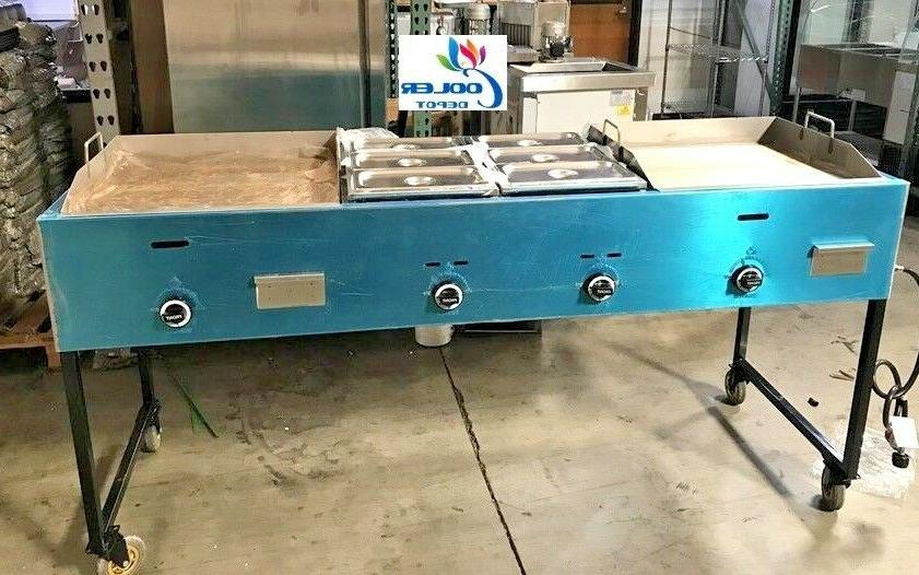 new 78 taco grill griddle cart comal