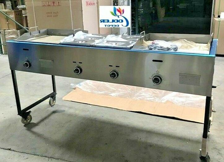 """NEW 79"""" Taco Griddle Carts Food Hot Dogs Hamburgers FriesO"""