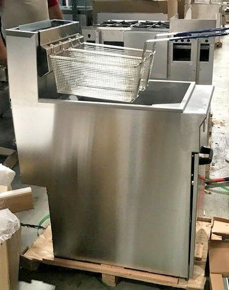 NEW Commercial Gas 40lb Stainless Deep Fryer Food NSF
