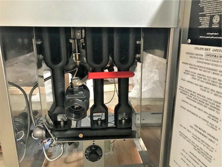 NEW Commercial Gas 40lb Steel Deep Fryer NSF