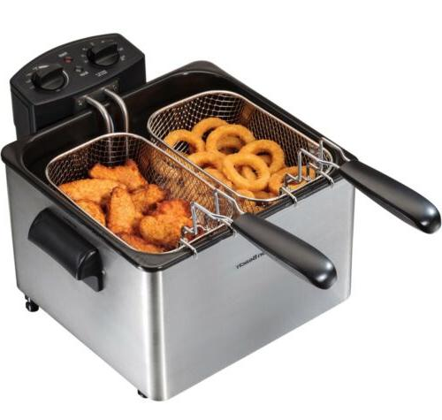 new deep fryer professional style 3 basket