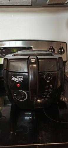 NEW NO BOX Presto CoolDaddy 05442 Deep Fryer Black Cool-Touc
