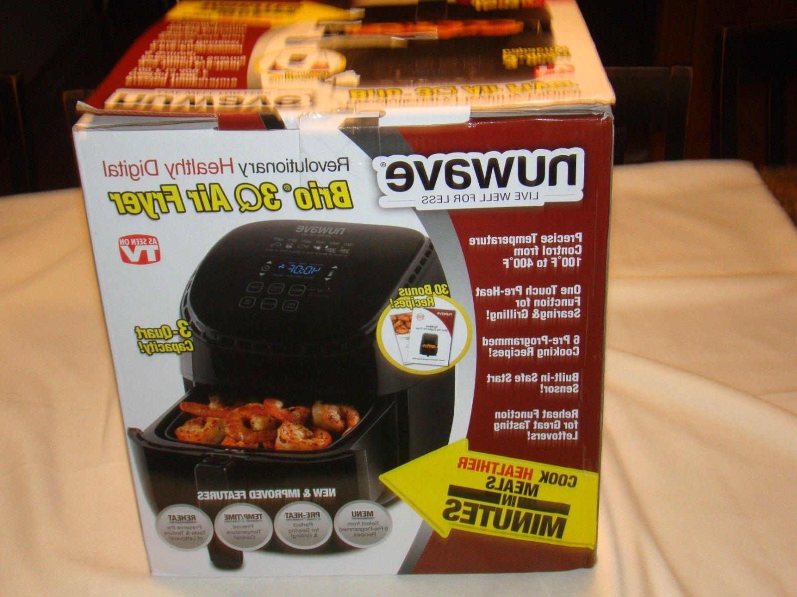 NuWave 3QT Electric Cooking Digital Air Deep Fryer
