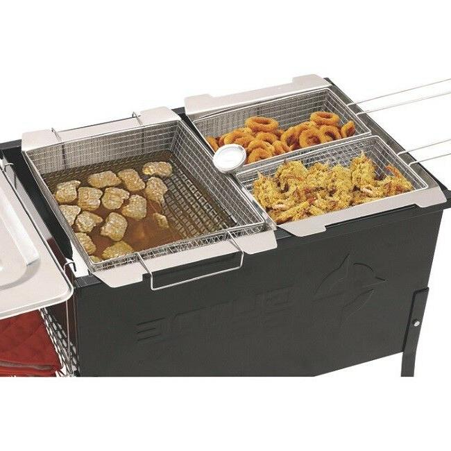 Outdoor Triple Deep Portable Cooker Camping Tailgate