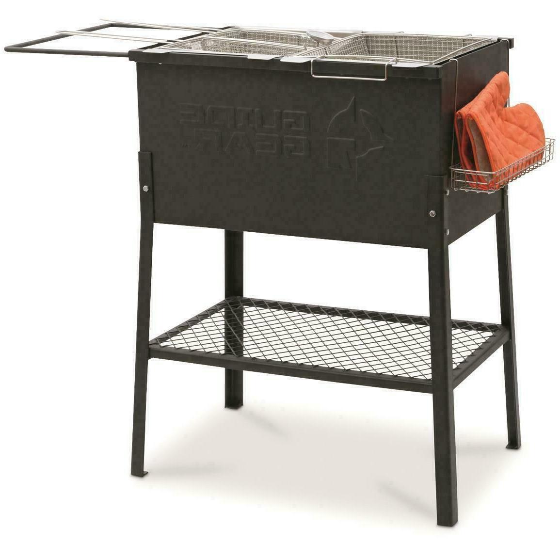 propane deep fryer patio deck cooker camping