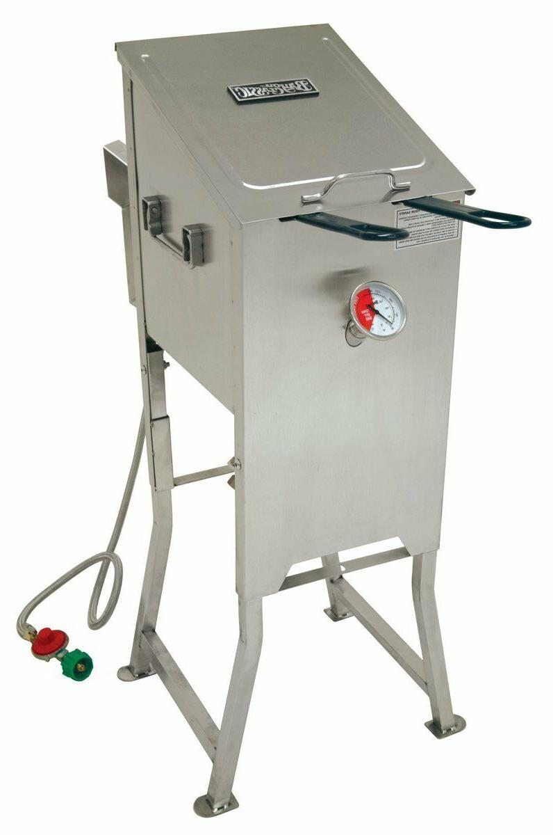 NEW BAYOU CLASSIC 700-701 4 GALLON PROPANE STAINLESS STEEL D