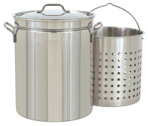 Bayou Qt. Stainless Steel Fryer/Steamer Pot