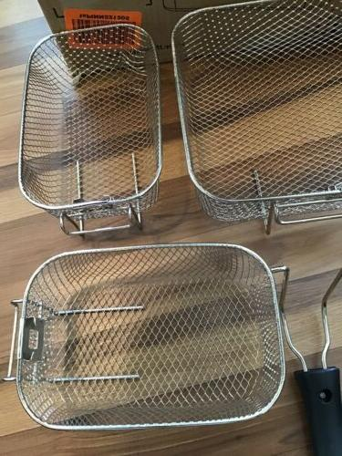 SECURA SET OF 3 DEEP FRYER BASKETS AND HANDLES