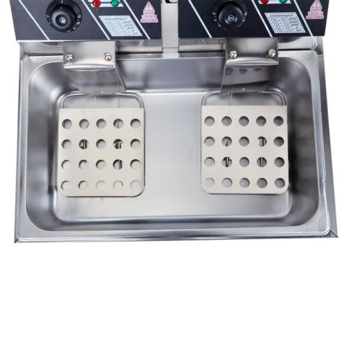 2500W Electric Stainless Tabletop Basket Commercial 12L