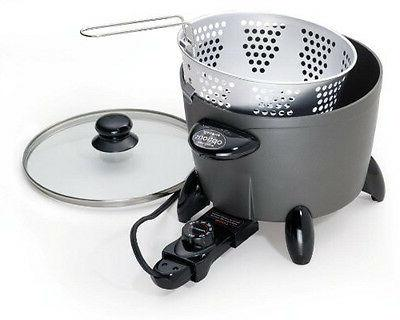 Small Electric Deep with Oil Cooker Steamer