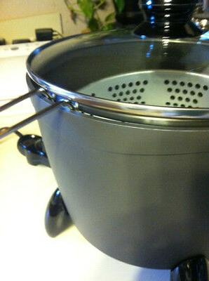 Small Deep with Fry Basket Oil Frying Pot Home Cooker Steamer
