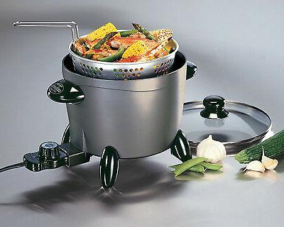 small electric deep fryer with fry basket