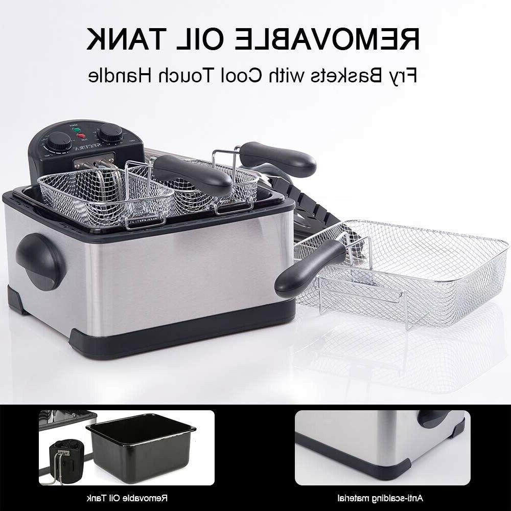 Stainless-Steel 3 Basket Electric Deep Timer